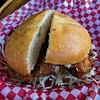 Sally Hurricane's Southern fried chicken sandwich from RT Rotisserie (Fuzzy Traveler) Tags: friedchickensandwich fried chicken sandwich friedchicken cabbage briochebun food hayesvalley rtrotisserie