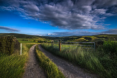 Off road (Glen Parry Photography) Tags: glenparryphotography landscape d7000 hiking hills nikon outdoors sigma sigma1020mm todmorden walking walsden westyorkshire yorkshire rollinghills green sunset fields