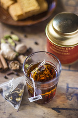Bombay Chai3 (Chandrima Sarkar) Tags: tea chai india photography styling foodphotography foodstyling productshoot product wood glass spices