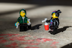 Street artists (Ballou34) Tags: 2018 7dmark2 7dmarkii 7d2 7dii afol ballou34 canon canon7dmarkii canon7dii eos eos7dmarkii eos7d2 eos7dii flickr lego legographer legography minifigures photography stuckinplastic toy toyphotography toys stuck in plastic street art artist paint can sun shadow ground hood loyd ninjago wildstyle movie