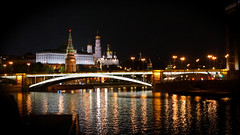 Russia 2018 - Ready, set, go! (Francoise100) Tags: moscow night bridge kremlin moscova river lights towers moskva fluss riviere russland russie nacht nuit