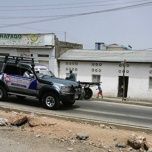 Toyota 4WD in the street of Borama