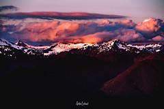 IMGP4911 (ashtenphoto) Tags: mountains mountain mountainscape landscape purple orange sunset pink clouds snow glacier hills ascent