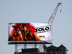 Solo A Star Wars Movie Billboard NYC 3002 (Brechtbug) Tags: solo a star wars movie billboard alden ehrenreich han donald glover lando calrissian joonas suotamo chewbacca woody harrelson tobias beckett may 2018 new york city portrait portraits eight story space opera film science fiction scifi robot metal man adventure galactic prototype design metropolis standee nyc poster billboards posters 34th st herald square ad ads advertisement advertisements 05242018