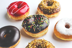 Delicious Variety (Mahmoud Lashin) Tags: food commercial alexandria egypt studio indoor colours colourful donuts sweet