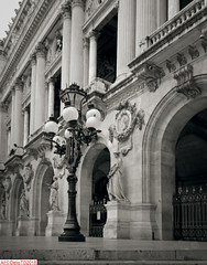 Place de l'Opera, Paris (DelioTO) Tags: 4x5 antiquities april architecture blackwhite city d23 f317 fall fomapan100 historical holiday pinhole rain trip