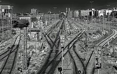 All rails lead to Munich (werner boehm *) Tags: wernerboehm munichcentralstation munich technic bahnhof schienen gleis