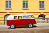 Camper Van Parked By A Yellow Building (k009034) Tags: 500px yellow copy space finland oulu scandinavia tranquil scene vw camper volkswagen building car city hill old outdoor parked railing red street summer town van vehicle white windows teamcanon copyspace tranquilscene vwcamper