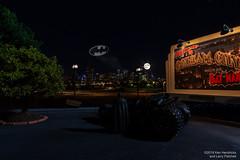 Welcome to Gotham (Ken Hendricks and Larry Patchett) Tags: capedcrusader brucewayne batman tumbler jada trees marylinheath billboard 124scale diecast model car figure denver cityscape gotham