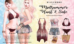 Witchwood- MidSummer Hunt (Petite Mort- Outfitting the modern bohemian) Tags: sl second life hunt sale midsummer summer beach bikini accessories petite mort oubliette