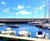 Madeira, Portugal. Funchal, Marina (dimaruss34) Tags: newyork brooklyn dmitriyfomenko image sky clouds portugal madeira svetlanafomenko reflection yachts boats funchal catwalk