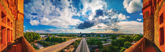 View over Worms (Marc Braner) Tags: ifttt 500px architecture building exterior boulevard local landmark tree bridge famous place tower rhinelandpalatinate worms germany europe outdoors sky old town historic bell worship cathedral dome dom wormser church townscape nibelungenturm cityscape landscape panorama