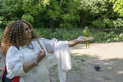 DSC_2194 (photographer695) Tags: wintrade rest recreation hyde park london feeding parakeet birds with nicole ross