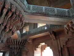 inside fatehpur sikri palace (1) (kexi) Tags: india asia uttarpradesh fatehpursikri inside interior palace red sandstone old ancient samsung wb690 february 2017