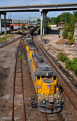 """Westbound Transfer in Kansas City, MO (""""Righteous"""" Grant G.) Tags: up union pacific railroad railway emd power locomotive train trains west westbound transfer freight kansas city missouri"""