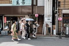 Tokyo Geisha Strolling (Rekishi no Tabi) Tags: ginza tokyo japan fujifilm xpro2 geisha kimono