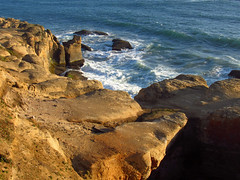 Sunset at Devils Punchbowl in OR (Landscapes in The West) Tags: devilspunchbowl pacificcoast oregon pacificocean pacificnorthwest sunset oregoncoast
