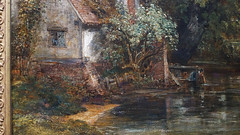 Constable, The Hay Wain (detail with woman)