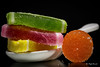Macro monday - Candy (Magda Banach) Tags: canon canon80d sigma150mmf28apomacrodghsm blackbackground candy colors green jellysweets macro macromondays orange polishsweets red sweets yellow