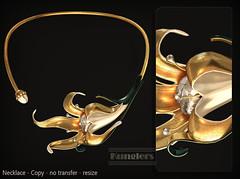 KUNGLERS Rosalia AD crystal (AvaGardner Kungler) Tags: kunglers secondlife avagardnerkungler weloveroleplay digital virtual jewelry necklace fantasy statement mesh