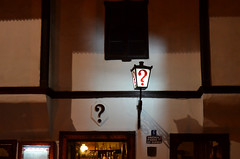 Riddler's favourite restaurant (Valantis Antoniades) Tags: serbia belgrade tavern bistro kafana question mark