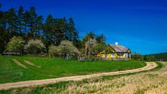 Small idyllic farm in Lithuania (K.H.Reichert [ not explored ]) Tags: lithuania wiesen meadows forest himmel weg fields farm hof wald felder litauen