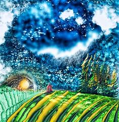"""Symphony Before Sundown"" (donnacoburn1) Tags: ipadart ipadpro applepencil mobile public safe donnacoburn snapseed artrage procreate metabrush apps farm nature colourful artwork digitalart mobileart imagination art"