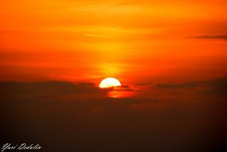 Sunset in Atlantic Ocean