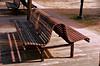 Curves and Shadows (creepingvinesimages) Tags: hbm bench monday outdoors curves colors jamesonpark park portland oregon pearldistrict nikon d7000 pse14 topaz restyle