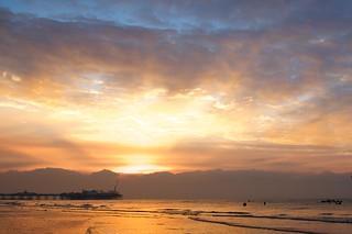 Brighton Palace Pier at sunrise