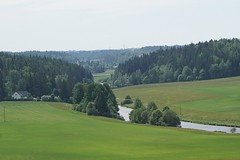 The green valley of the Aura River (satu.karlin) Tags: vihreä joki jokilaakso landscape maisema green valley river finland lieto aurajoki
