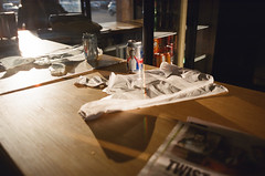 (Džesika Devic) Tags: architecture femalephotographer film girlgaze inspired light photographyseries pizzashop series stilllifephotography streetphotography torontostreetphotographer torontostreetphotography williameggleston womeninstreet youngphotographer hometown plastic bag sunset still life