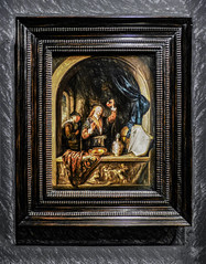 The Physician (Steve Taylor (Photography)) Tags: thephysician gerritdou book plate flak releif art painting picture newzealand nz southisland canterbury christchurch artgallery arch curtain