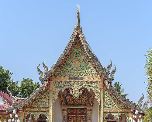 Wat Siri Mangkhlaram Phra Wihan Gable (DTHCM2241) วัดศิริมังคลาราม หน้าจั่ว พระวิหาร