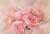 Let the beauty of what you love be what you do. (BirgittaSjostedt) Tags: rose blossom pink macro bouquet rosecard card wedding beauty romance