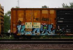 Lunch (quiet-silence) Tags: graffiti graff freight fr8 train railroad railcar art lunch eka sfr tnc boxcar rbox railbox rbox37466
