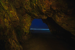 The Cave (CaptSpaulding) Tags: canon california color centralcoast 6d pismo pismobeach sky sea stone sand nature nightshot night water waves cave stars rock cavern