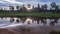 Angkor Wat at Sunrise (Phu Jaitrong) Tags: cambodia siem reap temple temples pond foreground sunrise