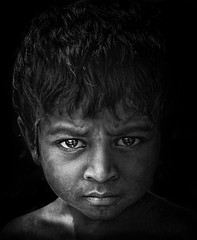 vision.. (tchakladerphotography) Tags: child look blackwhite contrast mood tribal rural portrait