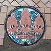 函館 Hakodate manhole cover (Brian Aslak) Tags: hakodate 函館 hokkaido 北海道 japan nihon 日本 asia town kumlokk squid manholecover