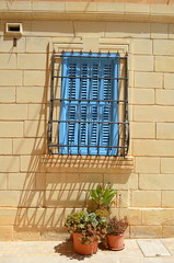 Blue Behind Bars [Vittoriosa - 26 April 2018] (Doc. Ing.) Tags: 2018 malta birgu vittoriosa protected blue window dwwg oldnewwindowsdoors