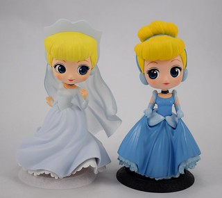 Wedding vs Blue Gown Cinderella - Q Posket Disney Characters by Banpresto - Full Front View