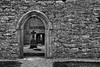 Corcomroe Abbey (efgepe) Tags: 2018 irland lightroom mai pentaxk1 ruine kloster abbey monastery bw sw schwarzweiss schwarzundweiss kreuz cross blackwhite silverefexpro nik durchblick
