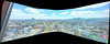 View to the South, variant (sjrankin) Tags: 26may2018 edited sapporo hokkaido japan panorama tvtower sapporotvtower view skyline buildings downtown cars road clouds odoripark volcanoes mountains