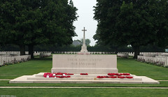 Their Name Liveth For Evermore (peterphotographic) Tags: olympus em5mk2 microfourthirds ©peterhall normandy normandie france p5250610edwm theirnamelivethforevermore bayeux bayeuxwarcemetery dday overlord normandylandings prayer cemetery grave graveyard military cross lestweforget memorial