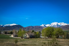 The valley in Midway has beautiful landscapes and mountains.