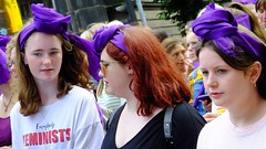Processions Edinburgh 2018 038 (byronv2) Tags: processions processionsedinburgh edinburgh edimbourg meadows middlemeadowwalk scotland woman women candid street peoplewatching protest march rally suffragette votesforwomen 1918 2018 feminism politics vote voting portrait redhead