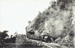 Ceylon Railways - Ceylon Government Railways steam train running up the Kaduganawa Incline (vintage postcard) (HISTORICAL RAILWAY IMAGES) Tags: ceylon railways cgr train steam locomotive srilanka kaduganawa