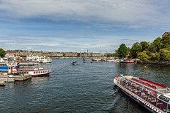 Along the waterfront (PhredKH) Tags: canonphotography city cityscene cityview cityscape fredknoxhooke fredkh photosbyphredkh phredkh sailingship splendid stockholm sweden swedish travelphotography traveltostockholm traveltosweden trees boats sky water scenic scenicwater bluesky