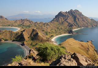 View from the top of Pulau Padar, Komodo NP, Indonesia